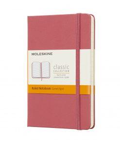 Карманный блокнот Moleskine Classic в линейку, в твердой обложке, пастельно-розовый
